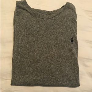 Heather Grey Polo T Shirt
